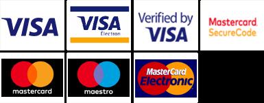 Możliwość płatności kartami Visa, Visa Electron, Maestro, Mastercard, Mastercard electronic